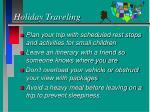 holiday traveling