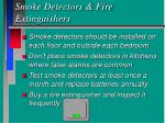 smoke detectors fire extinguishers
