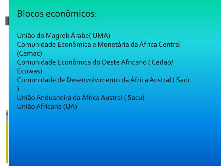 Blocos econômicos: