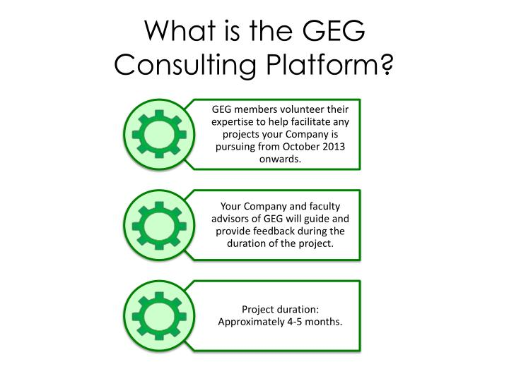 What is the geg consulting platform