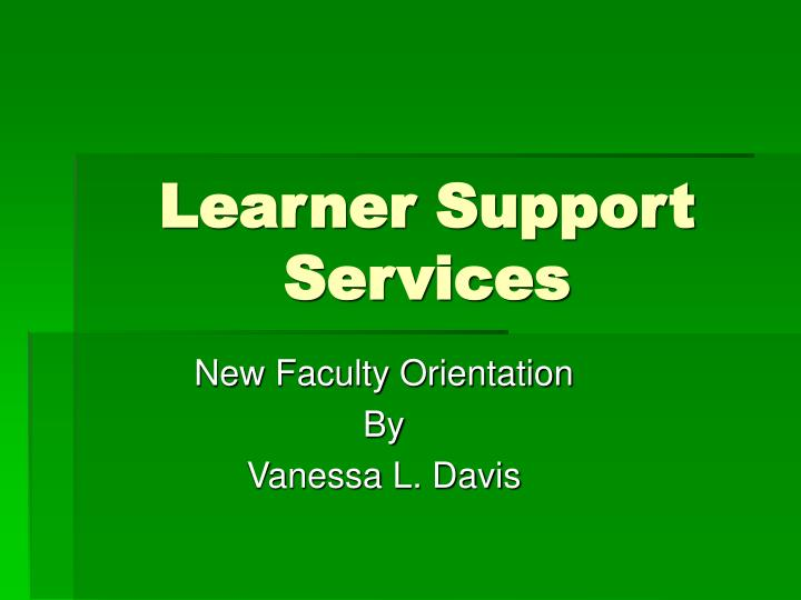 learner support services n.
