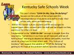 kentucky safe schools week1