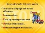kentucky safe schools week2
