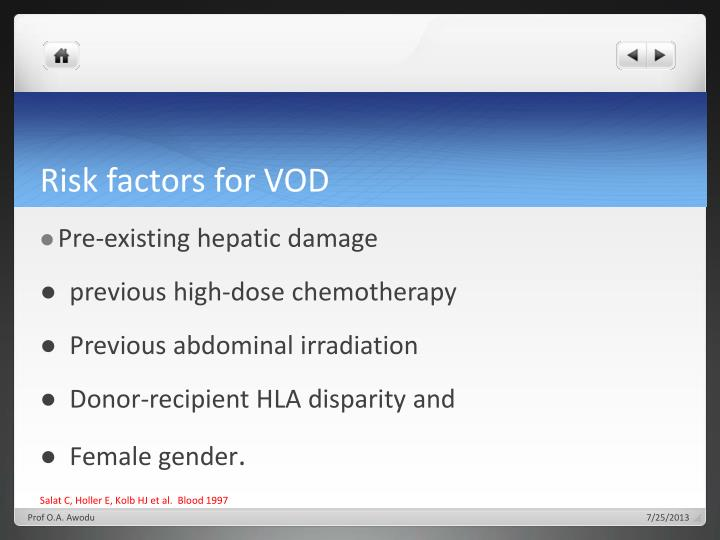 Risk factors for VOD