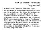 how do we measure word frequencies