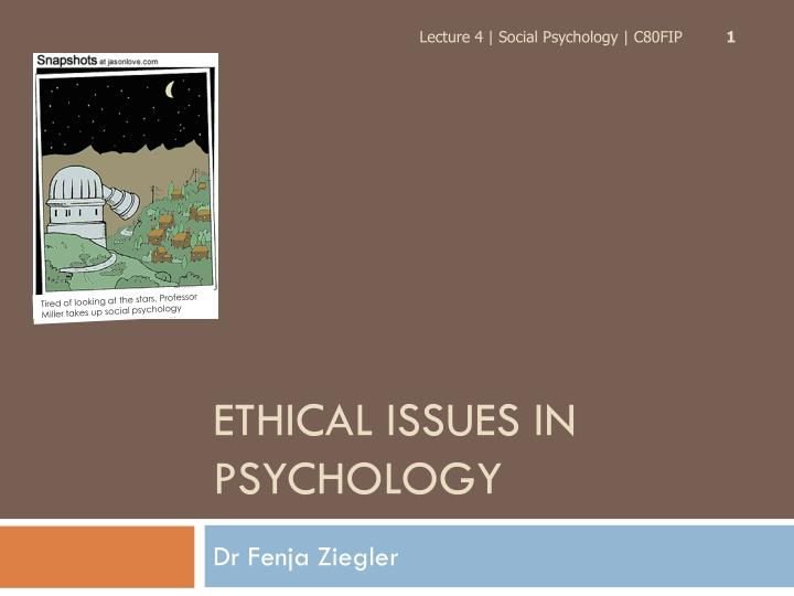 ethical issues in psychology n.