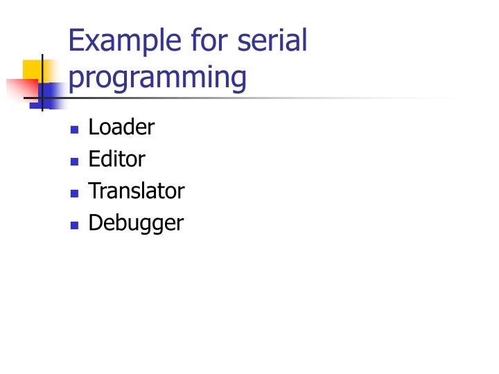 example for serial programming n.