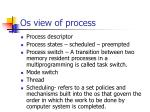os view of process