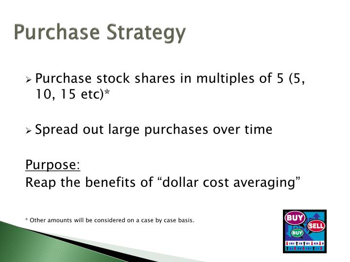 Purchase Strategy