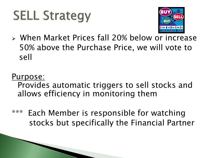 SELL Strategy