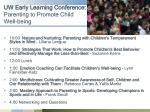 uw early learning conference parenting to promote child well being