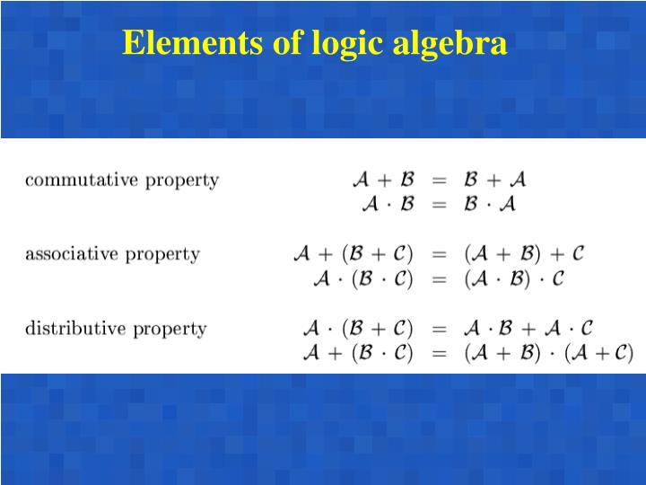Elements of logic algebra
