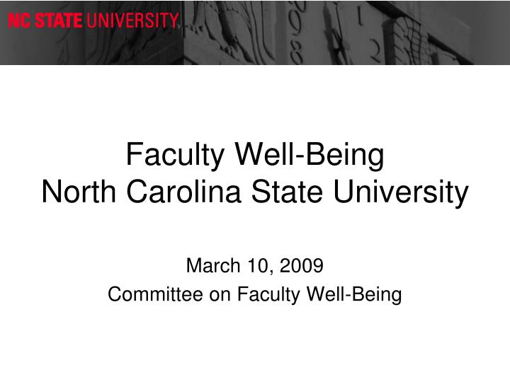 faculty well being north carolina state university n.