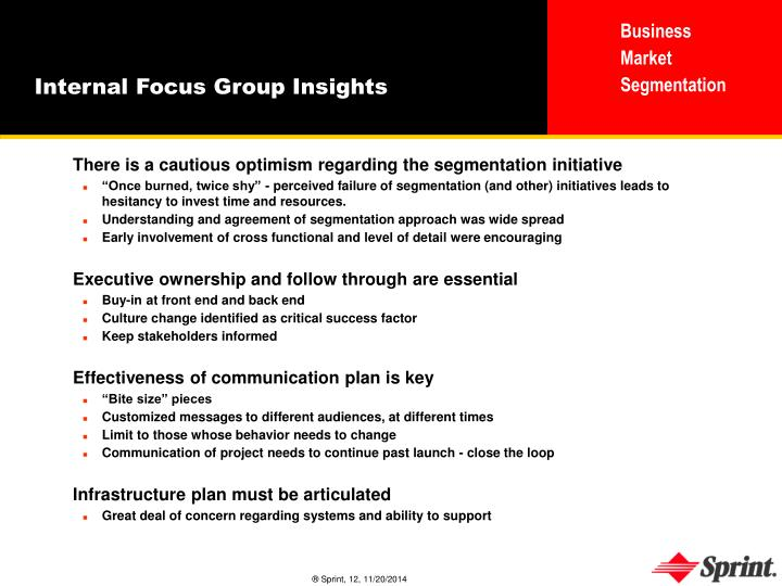 Internal Focus Group Insights