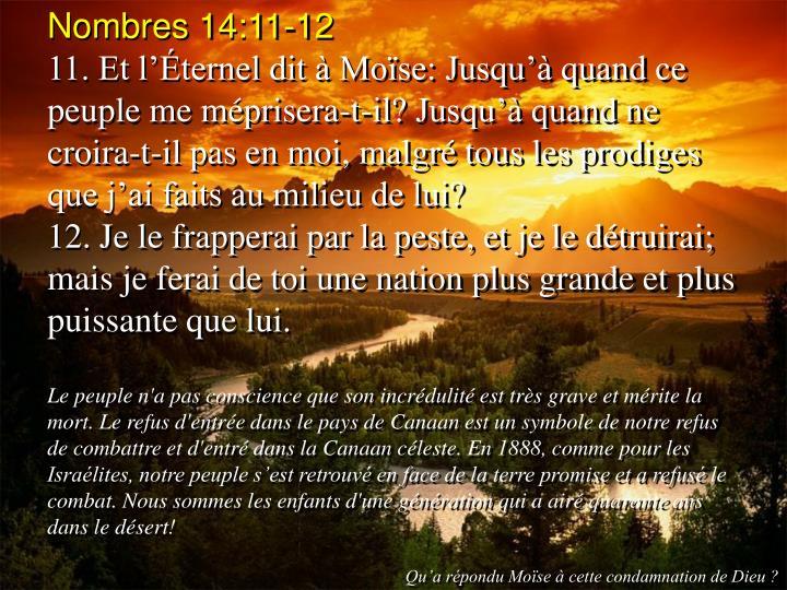 Nombres 14:11-12