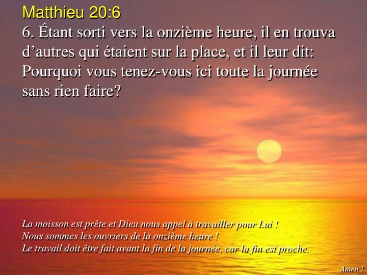 Matthieu 20:6
