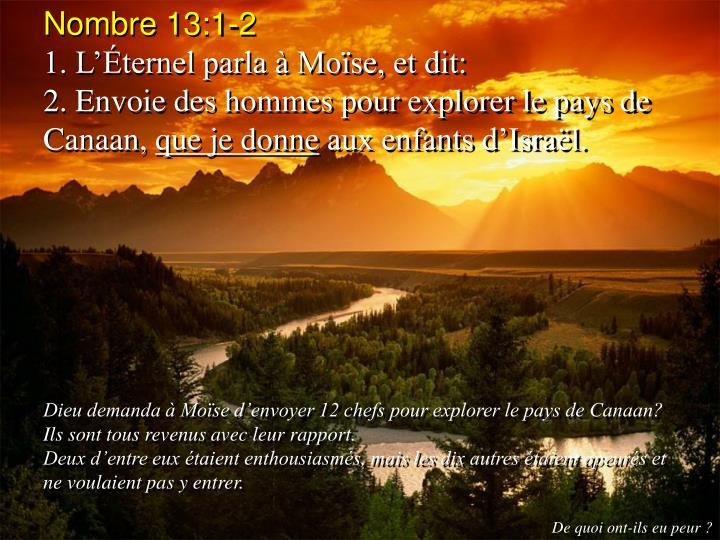 Nombre 13:1-2
