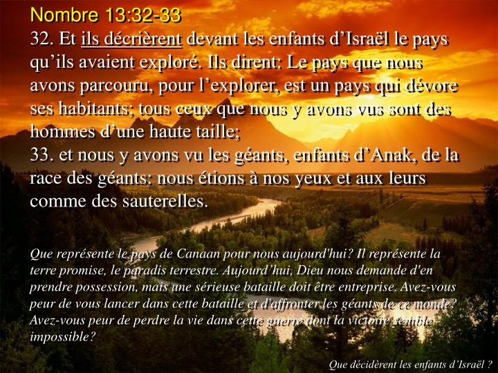Nombre 13:32-33