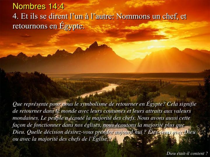 Nombres 14:4