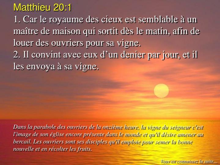 Matthieu 20:1