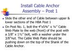 install cable anchor assembly post 1
