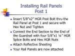 installing rail panels post 1