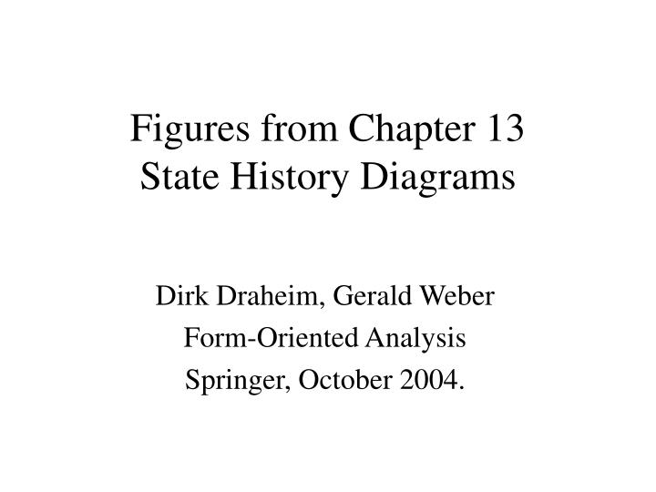 Figures from chapter 13 state history diagrams