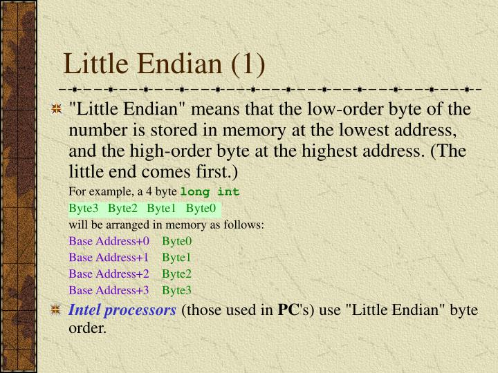 Little Endian (1)