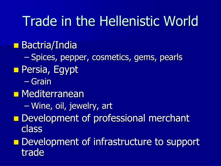 Trade in the Hellenistic World