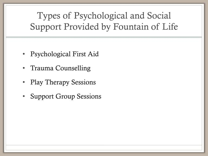 psychology and social support Social support like this matters because it can help to improve individuals' feelings of self-efficacy, which is another way of saying that it helps improve their without the mobilization of social support, meaning that without fostering a strong and supportive sense of community within coworking spaces.