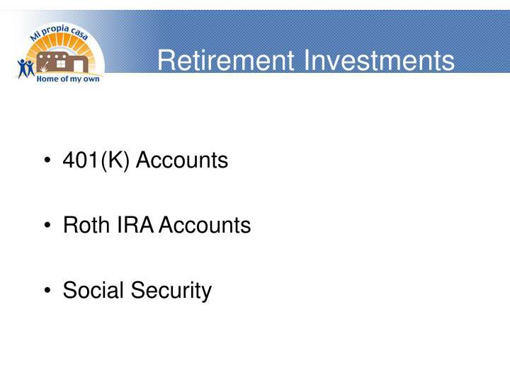 Retirement Investments