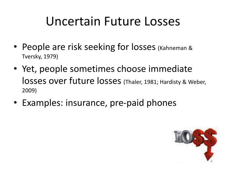 Uncertain Future Losses