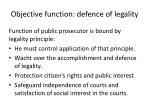 objective function defence of legality