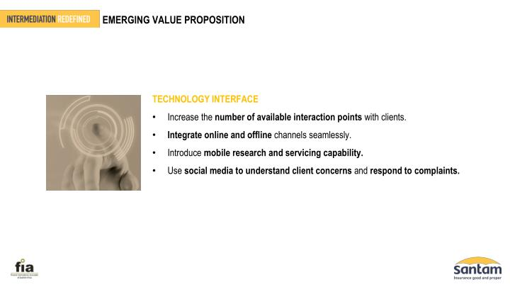 EMERGING VALUE PROPOSITION