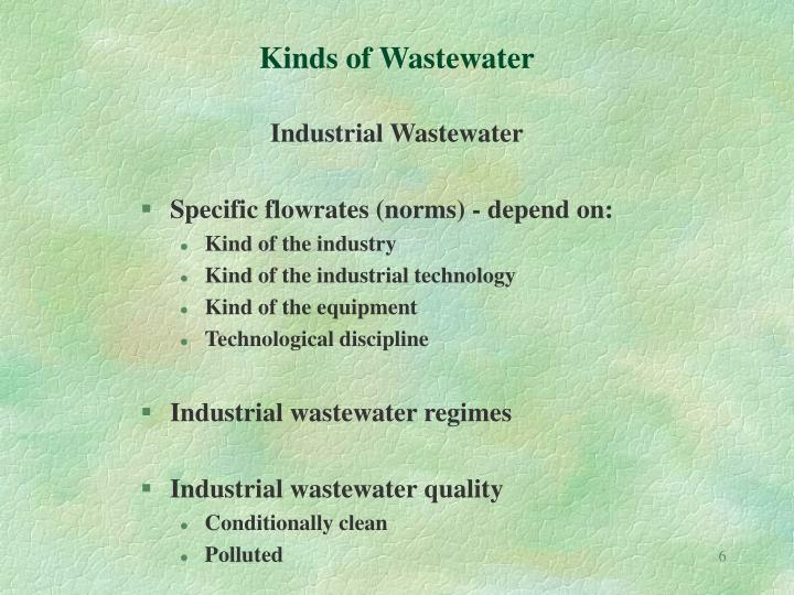 Kinds of Wastewater