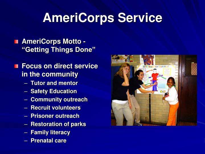 AmeriCorps Service