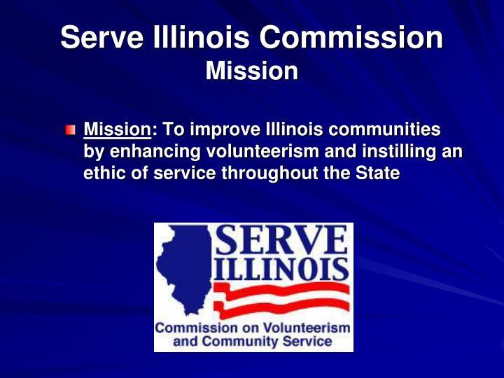 Serve illinois commission mission