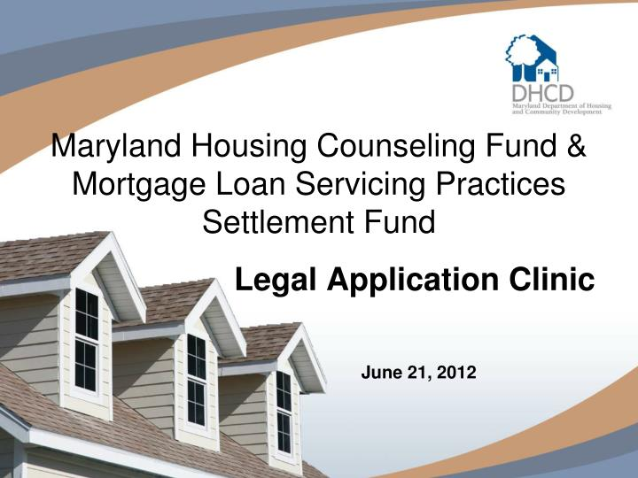 Maryland Housing Counseling Fund