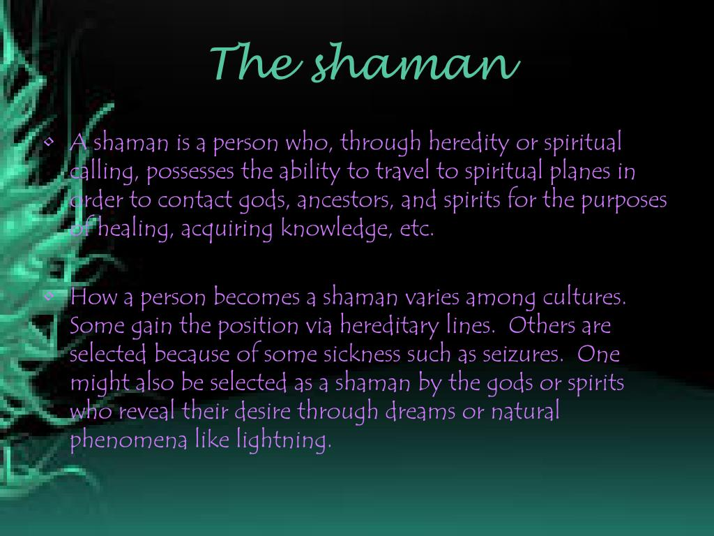 PPT - Shamanism PowerPoint Presentation - ID:6877420