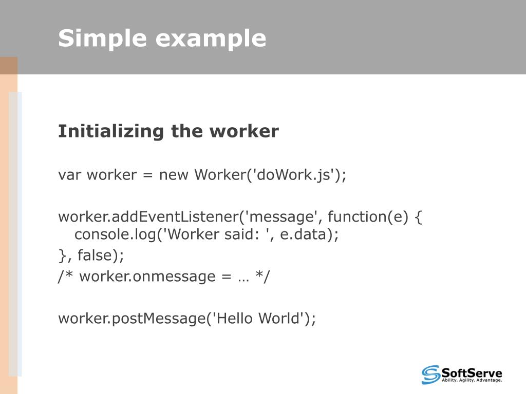 PPT - Using Web workers in Javascript PowerPoint