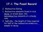 17 1 the fossil record6