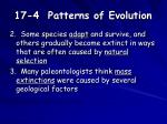 17 4 patterns of evolution1