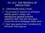 ch 16 3 the process of speciation19