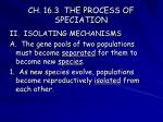 ch 16 3 the process of speciation2