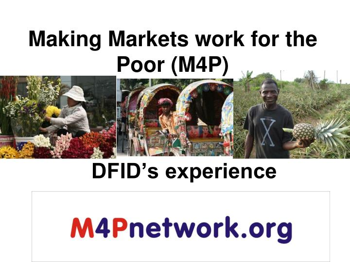making markets work for the poor m4p n.