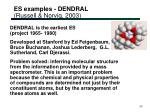 es examples dendral russell norvig 2003
