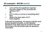 es examples mycin cont d5