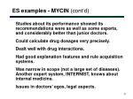 es examples mycin cont d6