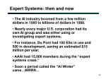 expert systems then and now