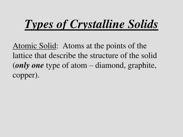 Types of crystalline solids1